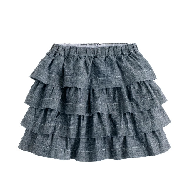 Girls' chambray cupcake skirt
