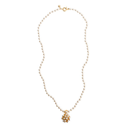 Pearl ball pendant necklace