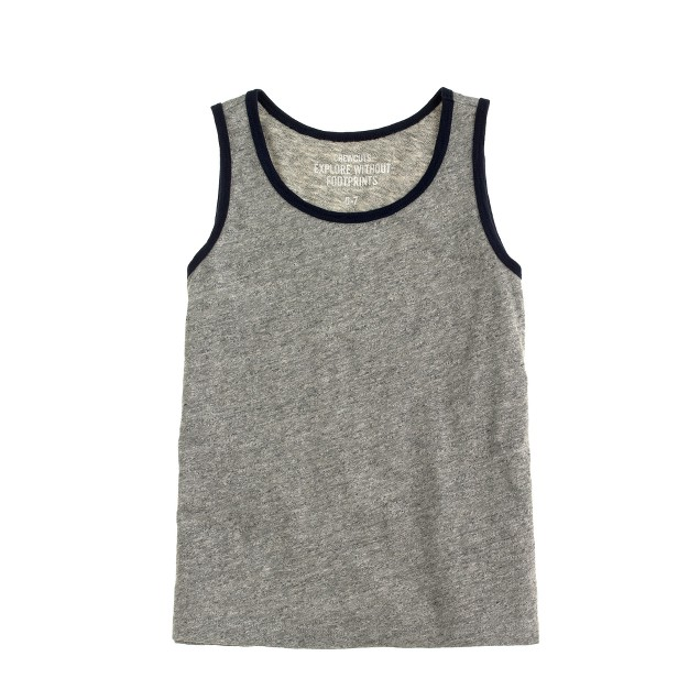 Boys' jaspé cotton tank