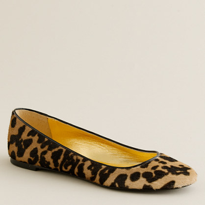 Christiane calf hair ballet flats