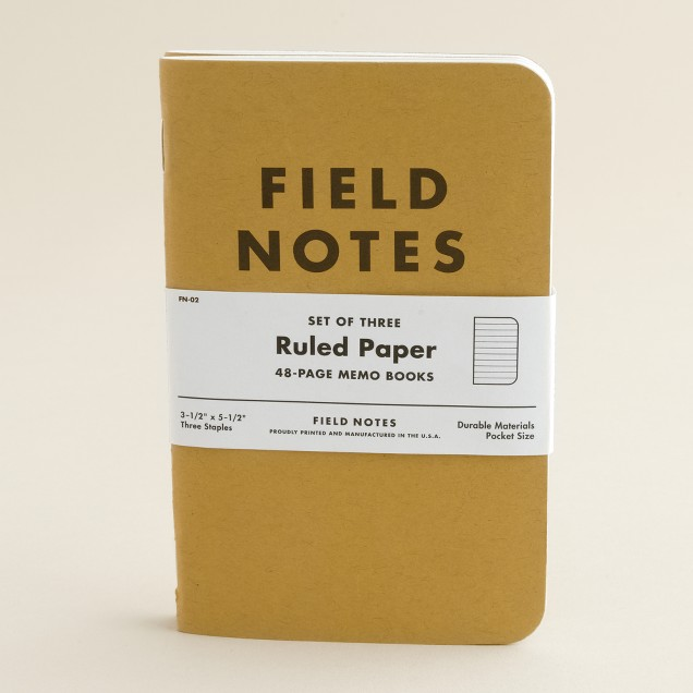 Field Notes™ ruled paper three-pack