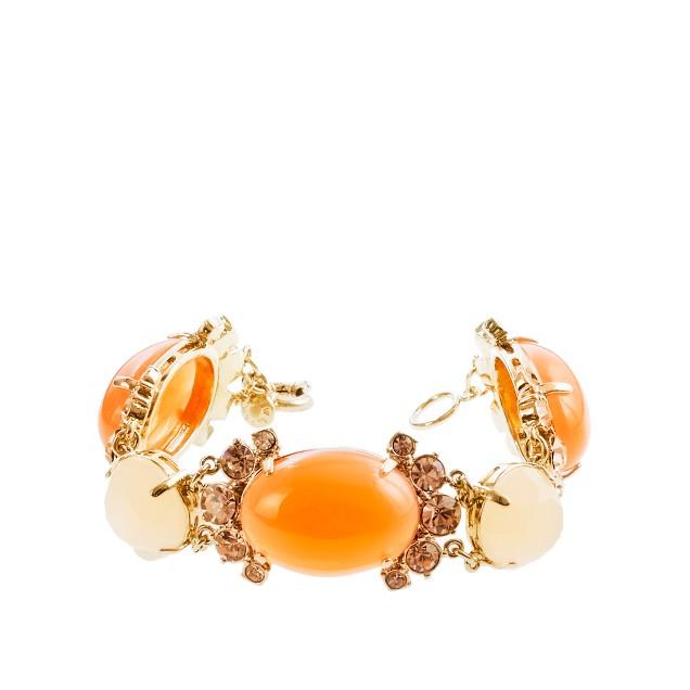 Cabochon fan bracelet