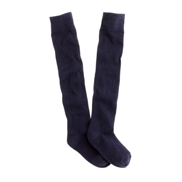 Girls' rib-knit over-the-knee socks