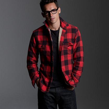 Heavyweight buffalo check shirt jacket lightweight for Buffalo check flannel shirt jacket