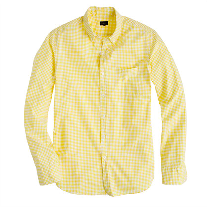 Secret Wash shirt in bright citrus gingham
