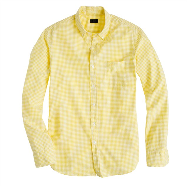 Secret Wash shirt in bright citrus gingham