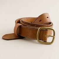 Burnished-leather belt