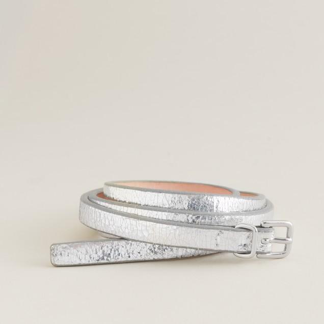 Single-wrap skinny belt