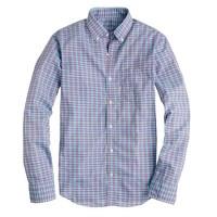 Slim Secret Wash shirt in green plaid