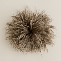 Pom-pom feather pin and hair clip