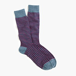 Tipped microstriped socks