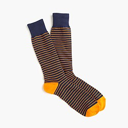 J. Crew Tipped microstriped socks