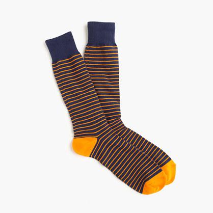 Tipped microstriped socks