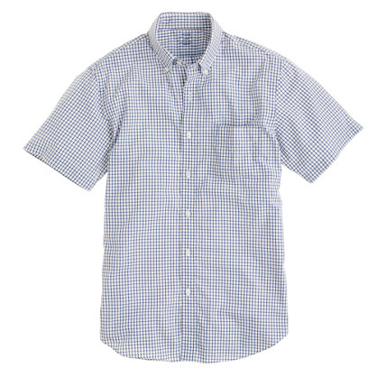 Lightweight short-sleeves shirt in Baltic check