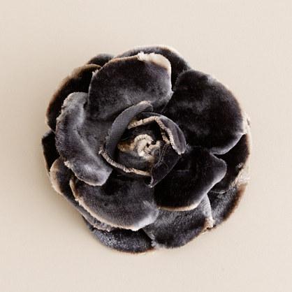 Velvet flower pin
