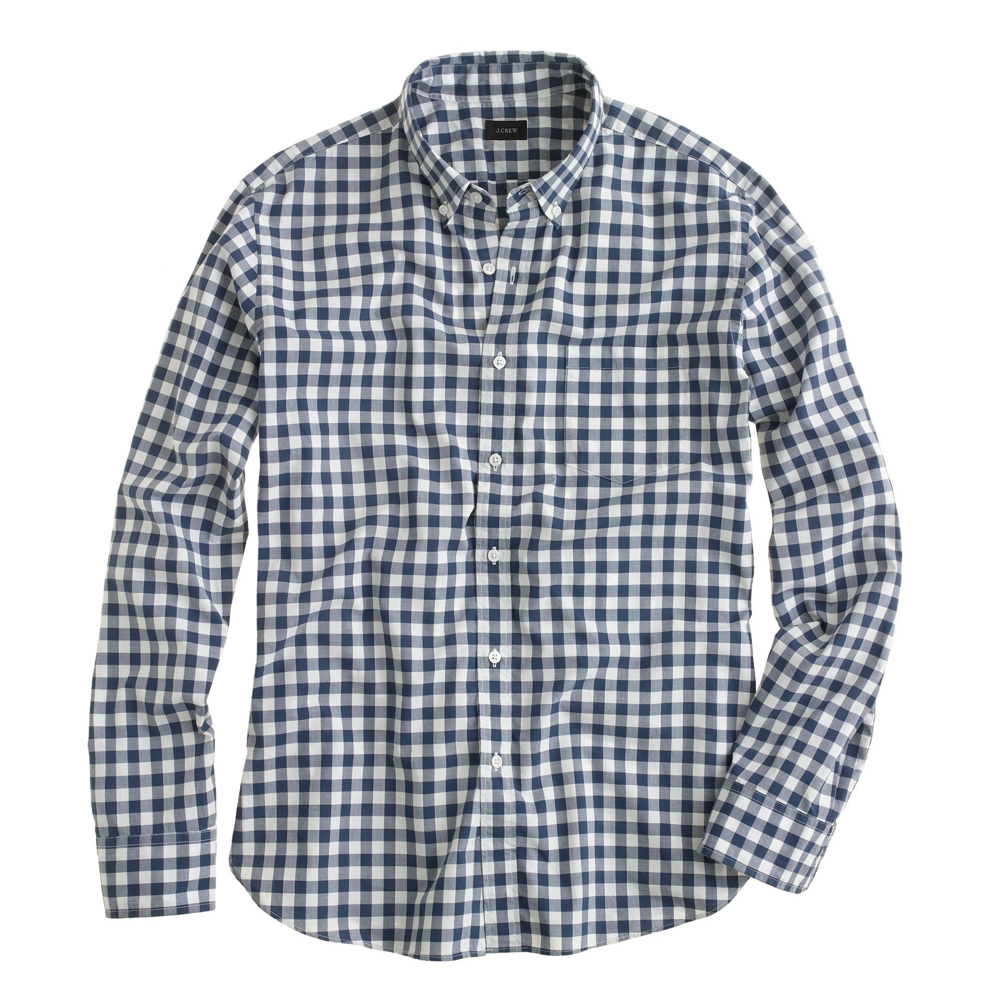 Secret Wash Shirt In Faded Gingham : Men's Shirts | J.Crew