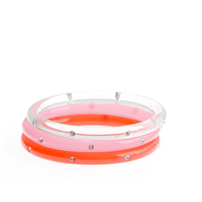 Girls' diamond bangle three-pack