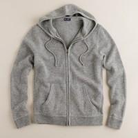 Cashmere zip hoodie