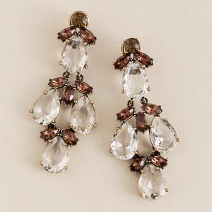 Crystal thornbush earrings