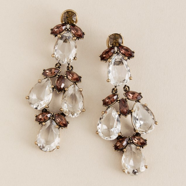 Crystal thornbush earrings
