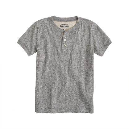 Boys' field knit jaspé short-sleeve henley