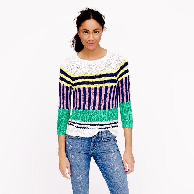 Collection mixed-stripe sweater