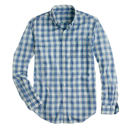 Secret Wash shirt in sea glass check
