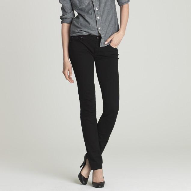 Matchstick jean in overdyed black denim