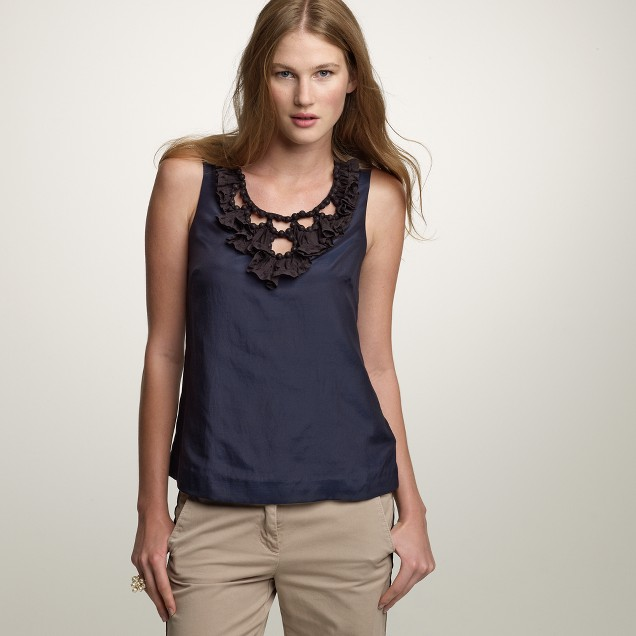 Ruffled collier top
