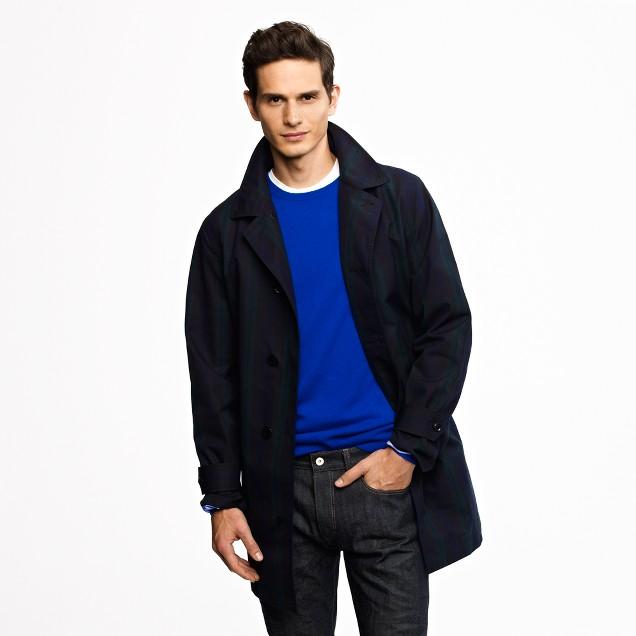 nanamica® Gore-Tex® Soutien collar coat in Black Watch