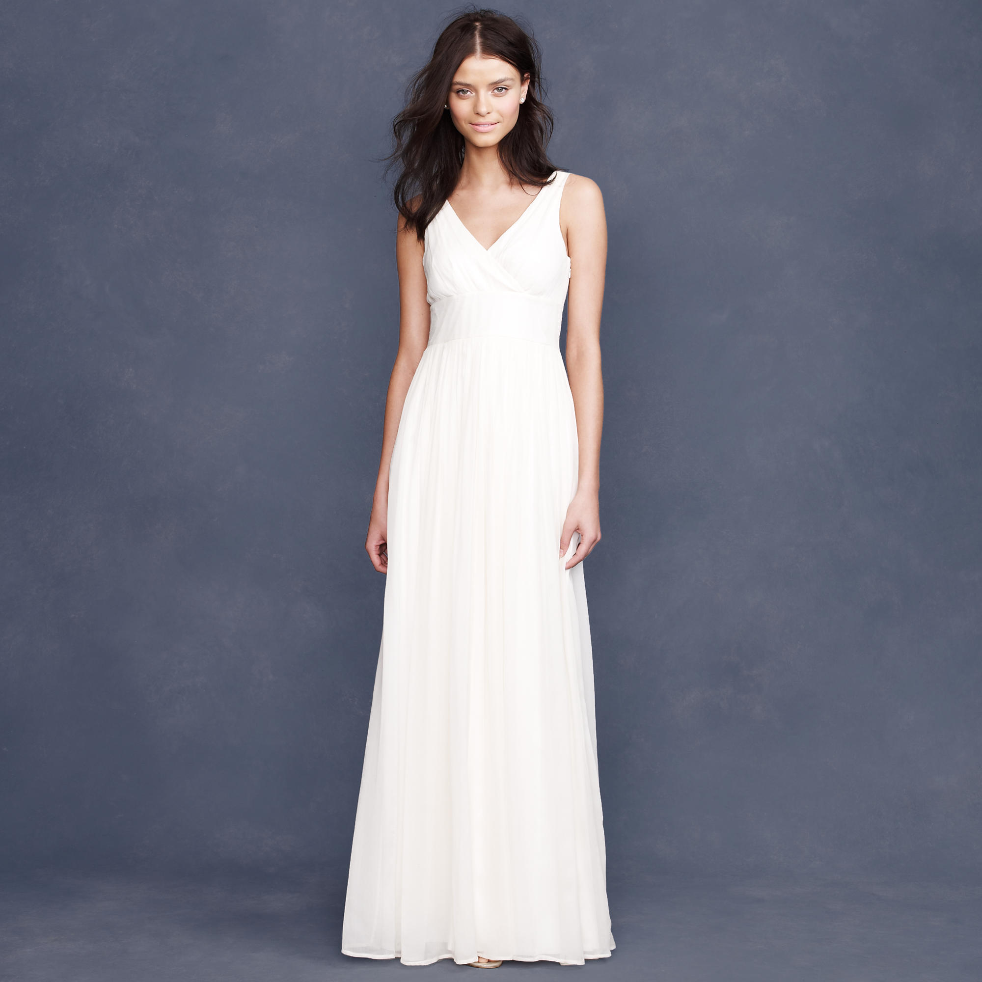 Sophia gown in silk chiffon j crew for J crew dresses wedding