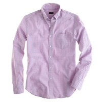 Secret Wash shirt in coral sunset check