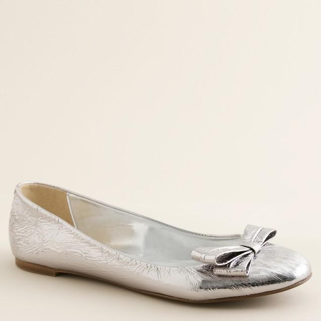 Pippa mirror ballet flats
