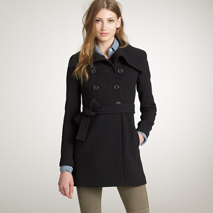 Double-cloth ingenue coat