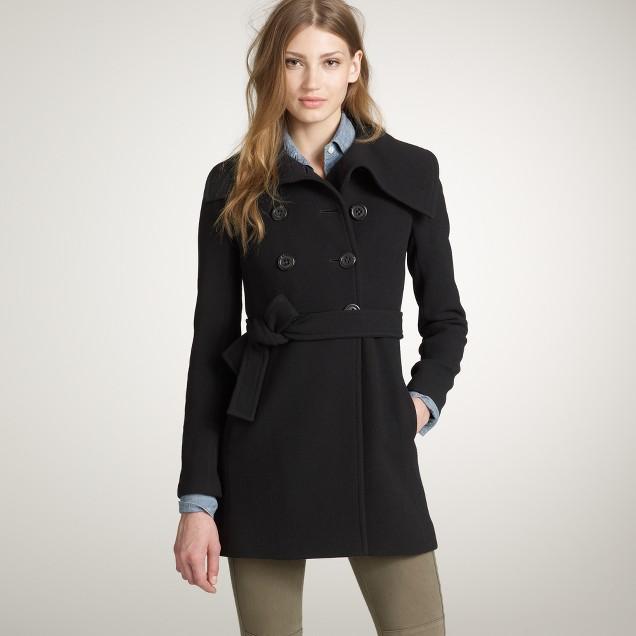 Double-cloth ingenue coat