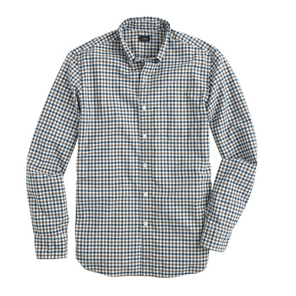 Slim Secret Wash shirt in small check