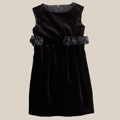 Girls' velvet ring-around-the-rosy dress