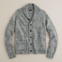 Alpaca shawl-collar cardigan