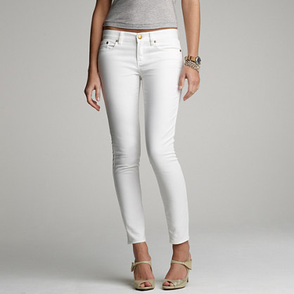 Ankle stretch toothpick jean in white denim : Skinny | J.Crew