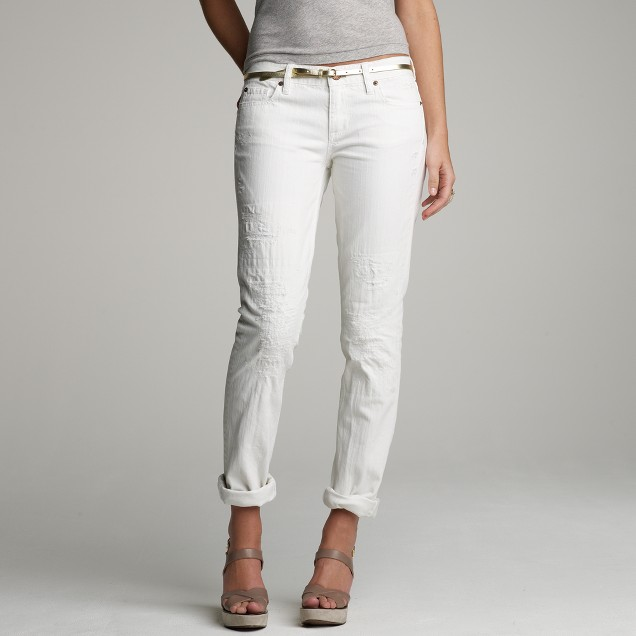 Vintage matchstick jean in busted white wash
