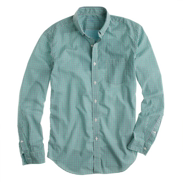 Secret Wash shirt in green tattersall