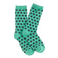 Large dot trouser socks