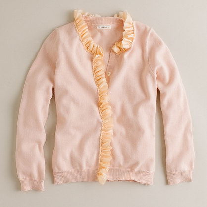 Girls' cotton classroom cardigan