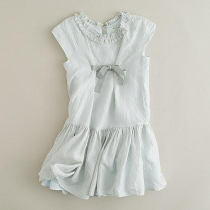 Girls' silk drop-waist dress