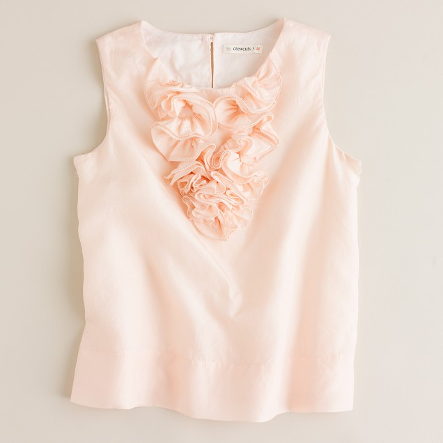 Girls' silk snapdragon top