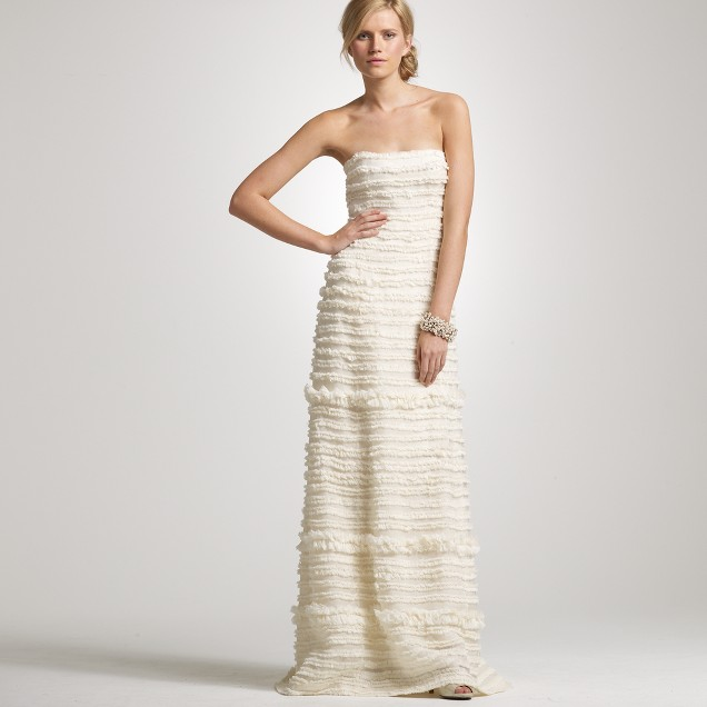 Streamer gown j crew for Wedding dresses for small frames