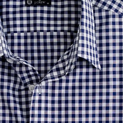 Point-collar regular-fit dress shirt in medium gingham