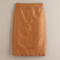 Frosted jacquard pencil skirt