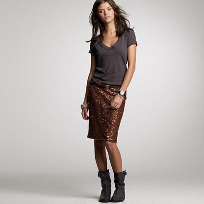 Petite stardust pencil skirt