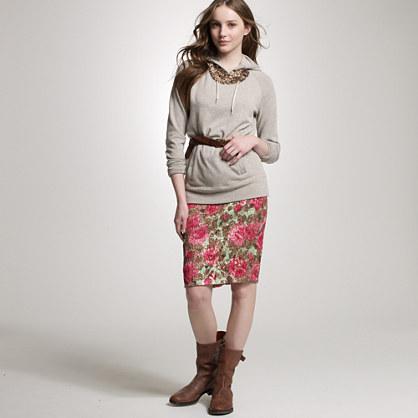 Jardin jacquard pencil skirt